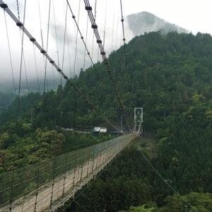 日本屈指の長さを誇る鉄線のつり橋、奈良県『谷瀬の吊り橋』へ行ってきました。その後は白浜のとれとれ市場で朝食。