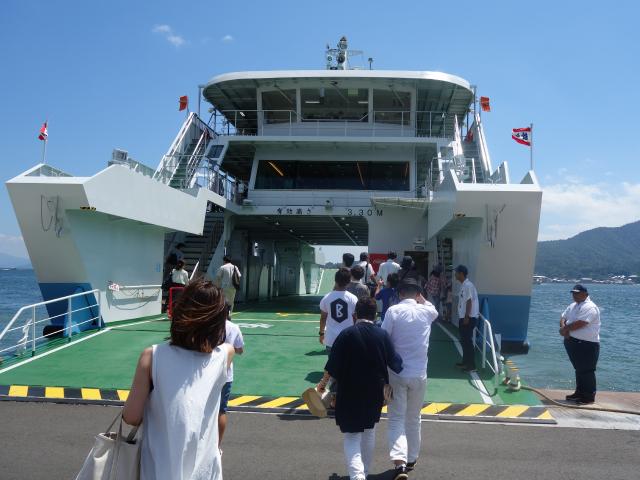 宮島フェリー乗船