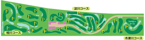 淀川河川公園仁和寺パターコース(全3コースの27ホール)