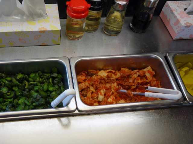 食べ放題の漬物やキムチ