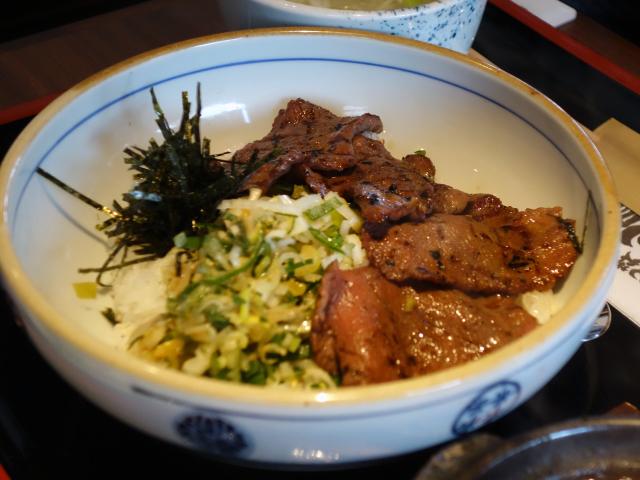 ねぎ塩牛たん丼とたんシチュー定食(1,150円)