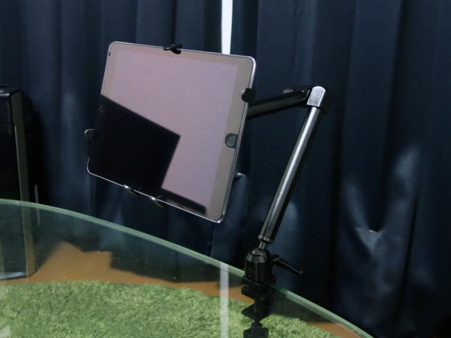 iPadを装着