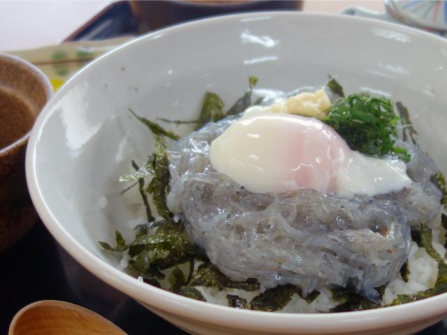 大阪湾産生しらす丼定食(950円)