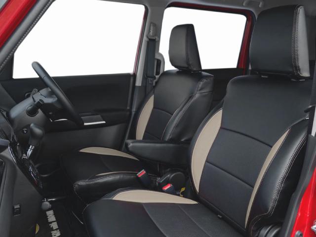 これにしようか少し迷ったサンドグレー&ブラックの2トーンカラーの専用シートカバー