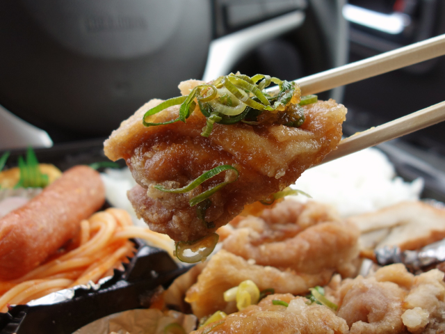味通利の揚げ鶏のねぎポンズ弁当(640円)