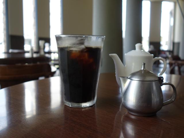 食後のアイスコーヒ