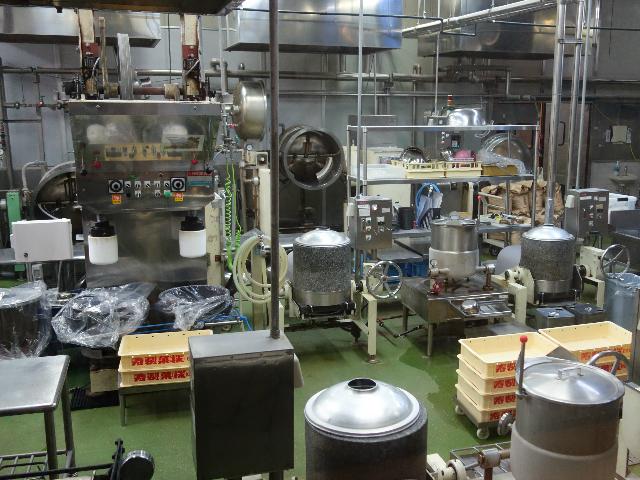 お菓子の製造ライン
